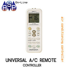 UNIVERSAL REMOTE CONTROL FOR AIR CONDITIONING SPLIT SYSTEMS TO SUIT MOST BRANDS
