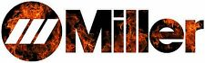 MILLER WELDER FLAMES DECAL STICKER - SET OF 2