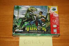 Turok Dinosaur Hunter (Nintendo 64 N64) NEW SEALED V-SEAM, FIRST PRINT, RARE!