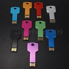 32GB USB 2.0 Metal Thin Key Flash Memory Stick Pen Drive Storage Thumb U Disk