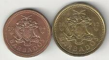 2 NICE COINS from BARBADOS - 2004 1 CENT & 2012 5 CENT
