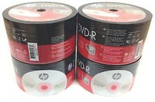 HP DVD-R 16X 4.7GB 120MIn DVD-R Branded Logo 200pcs 4x50 pack In Plastic Wrap