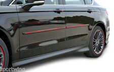 For: HYUNDAI SANTA FE; PAINTED Body Side Moldings Trim  W/Red Insert 2013-2017