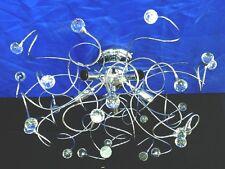 PLAFONIERA LAMPADARIO tipo swarovski sfere cristallo MINA 5 LUCI CROMATA moderna