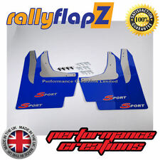 Rally Mudflaps Honda Civic Sport (01-07)Mud Flaps Blue Logo Silver/Red 3mm PVC
