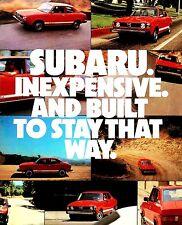 1979 SUBARU BROCHURE-SUBARU-DL-GF HARDTOP-4WD SW-BRAT