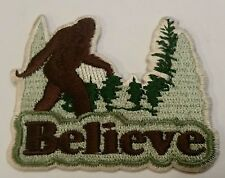 BIGFOOT SASQUATCH Believe Embroidered Cloth PATCH  iron on or sew