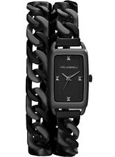 KARL LAGERFIELD KL1807 KOURBE DOUBLE WRAP BRACELET LADIES WATCH - 2 YRS WARRANTY