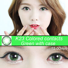 GREEN  eye color contacts lenses Crazy Halloween Cosmetic Makeup Cosplay - K23I