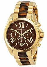 New Michael Kors Quartz Women's MK5696 Tortoise Chronograph Watch
