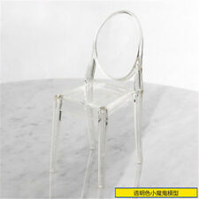 1: 6 small  chair transparent plastic  Puppenhaus dollhouse furniture  6 points