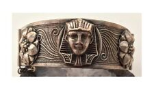 Egyptian Revival Antique Jewelry Victorian Sphinx Egypt Bangle Bracelet 19 Cent.