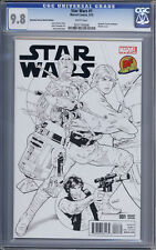 Star Wars #1  Dynamic Forces Greg Land Sketch Variant with COA 1st Print CGC 9.8