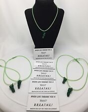 Jabekit Jewelry Party Pack Of 5 Green Twister Necklaces Cyclone/Tornado