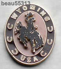 WYOMING USA STATE  VEST JACKET HAT TAC PIN