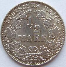 TOP! 1/2 Mark 1907 D in BANKFRISCH / STEMPELGLANZ !!!