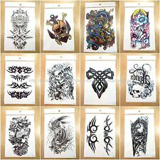 12pcs temporary tattoo wholesale Chinese dragon tramp stamp day fake tatoos