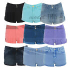 LADIES WOMENS EX TOPSHOP MOTO DENIM HOTPANTS SHORTS JEANS SIZE 6 8 10 12 14 16