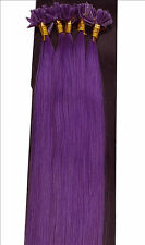 Hot Sale Remy Nail U Tip Keratin Glue 100S 50g 100% Human Hair Extension #Purple