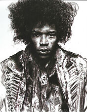 JIMI HENDRIX 8 X 10 PHOTO ART WITH ULTRA PRO TOPLOADER