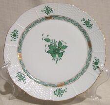 """Herend Chinese Bouquet Green 9 7/8"""" Dinner Plate # 524"""