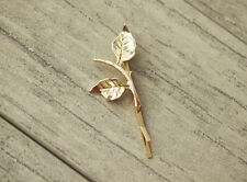 Unique New Design Charm Hair Jewelry Bobby Pin Gold Leaf Tree Branch Hairpin 1pc
