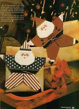 STAR SANTAS CHRISTMAS 4TH OF JULY PLASTIC CANVAS PATTERN ONLY FROM A MAGAZINE