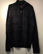 NWOT Banana Republic Plaid Extra-Fine Merino Wool Sweater Jacket,Black SZ XL