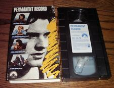 Permanent Record (VHS, 1988) OOP 1st Paramount/Keanu Reeves/Teen Suicide Drama!