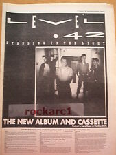 LEVEL 42 Standing in The Light 1983 UK Poster size Press ADVERT 16x12 inches