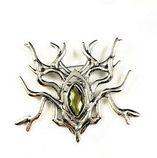 Antique Silver Lord of the Rings LOTR Hobbit Thranduil Spider Badge Brooch Pin