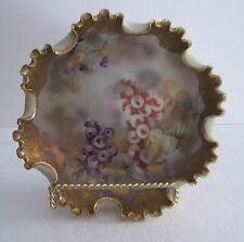 Nippon Heavily Gold Encrusted & Beaded Footed Cabinet Bowl H.P. C. 1891-1921 Sgn