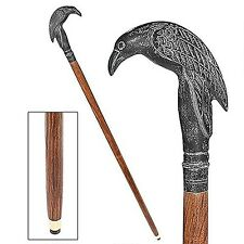 Design Toscano TV62002 Poe's Mystic Raven Solid Hardwood Walking Stick