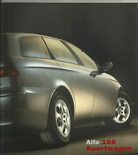 Alfa Romeo 156 Sportwagon GTA 2.0 1.8 1.6 2.5 3.6 V6 Brochure  Mint Condition
