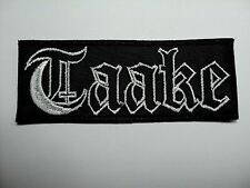 TAAKE  WHITE LOGO  EMBROIDERED PATCH