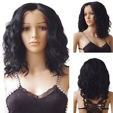 "16"" Heat Resistant Lace Front Wig Synthetic Bob Hair Body Wavy Curly Cosplay #X6"