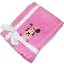NEW DISNEY BABY MINNIE MOUSE PINK SOFT BLANKET 80 X 80 CMS - GREAT PRESENT!