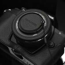 GARIZ Leather Lens Capfix Olympus Panasonic 14-42mm Cap XA-CFOEBK2 Black