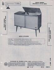 1956 ZENITH SFD2503ECONSOLE SERVICE MANUAL PHOTOFACT SFD2503R SFD2503W RADIO