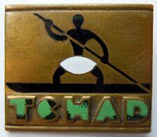 Insigne Marine Pétrolier LAC TCHAD  insigne Drago O.M. déposé émail