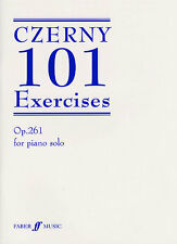 Carl Czerny 101 Exercises Op. 261 Brown Learn to Play Piano Sheet Music Book