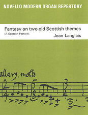 Jean Langlais Fantasía En Dos escocés temas Op. 237 Keyboard Music Libro