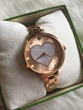 Kate Spade Women's Metro Rose Gold Tone Stainless Steel Watch Heart KSW1216