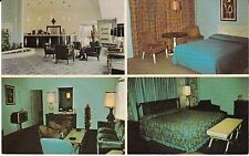 """Louisville KY  """"The Standiford Motor Hotel Rooms, Lounge""""  Postcard  Kentucky"""