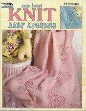 Our Best Knit Baby Afghans Vol. 1 Leisure Arts 33 Designs Pattern Book LA3219
