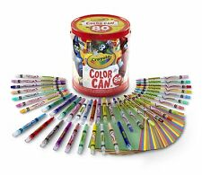 Crayola Twistable Colored Pencils Crayons Multi-Color Paper Portable Travel Can