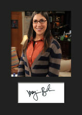 TBBT MAYIM BIALIK #2 A5 Signed Mounted Photo Print (RePrint) - FREE DELIVERY
