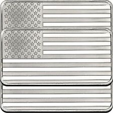 American Flag 10oz .999 Silver Bar (3pc)