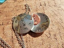 Personalized Hand Stamped Memorial Necklace, Custom Pennies from Heaven Locket