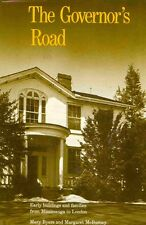 The Governor's Road Ontario Canada HC BOOK Architecture History
